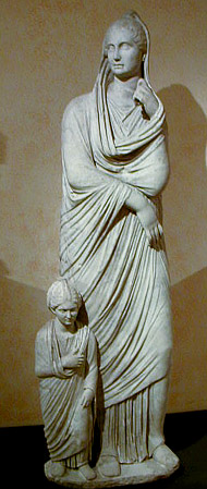 statue of mother and daughter