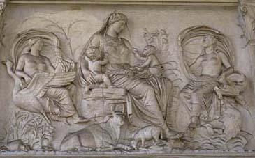 Tellus Relief of the Ara Pacis